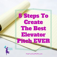 Do you get stuck when asked what you do for a living, or wish there was an easy way to explain it? Read my 5 steps to create the best elevator pitch ever! Creating A Business, Home Based Business, Business Tips, Things To Know, Good Things, Make Money Blogging, Social Media Tips, Blog Tips, Pitch