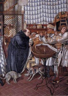 [Renaissance] Domenico di Bartolo - Care of the Sick. Medieval Manuscript, Medieval Art, Italian Renaissance, Renaissance Art, Popular Paintings, Renaissance Paintings, Sea Art, Oil Painting Reproductions, Italian Art