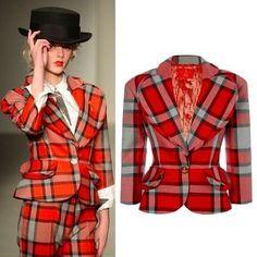 Vivienne Westwood ジャケット ☆SALE☆名作ラブジャケット タータン 2014/15AW RED LABEL