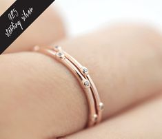 20%Off Rose gold minimalist sterling silver ring, white gold silver ring, midi ring, stackable ring