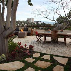 Fire Pit, Garden Features: Beyond the Gnome Backyard Farmer, Backyard Patio, Outdoor Spaces, Outdoor Living, Outdoor Decor, Outdoor Ideas, Prayer Garden, Flagstone Patio, Garden Features