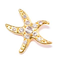 Planning a romantic wedding on the beach? Totally Dazzled has just the thing for you! This gold and rhinestone starfish buckle is only $0.98! We offer free domestic shipping on orders of $99 or more. Visit us online to view our entire collection of starfish and other rhinestone products. We'll dazzle you!