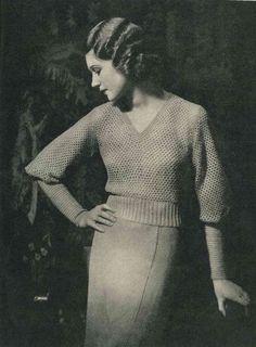 Lux Knitting for 1934, 16 designs c.1930s - Vintage Knitting Pattern booklet PDF. $6.00, via Etsy.