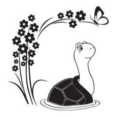 """Style and Apply Turtle Wall Decal Size: 46"""" H x 42"""" W, Color: Dark Green"""