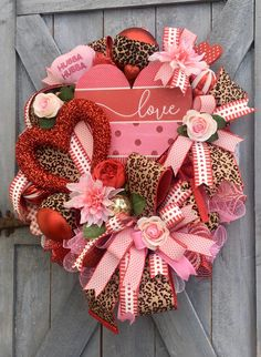 Valentine/'s Day Wreath,Valentimes/'s Day Front Door Wreath Valentine/'s Decor Valentine/'s Decoration Wall Decor Whimsical Wreath Cupid