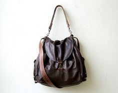 convertible backpack - 1904 PORTER PACK -  lightweight lambskin backpack - leather crossbody bag - wax canvas pockets
