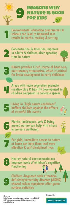 9 Reasons why Nature is Good for Kids!
