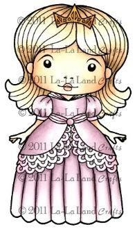 Princess Marci Rubber Stamp