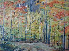 The Orange Maple Trees by Francois Fournier Oil ~ 30 x 40