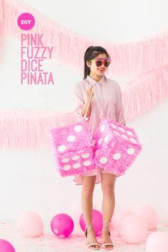 Fuzzy Dice Pinata Makeover