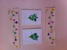 Christmas fingerprint craft Toddler/ preschool