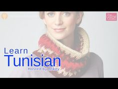 Tunisian Crochet for Beginners - how to cast on and do 3 stitches and then learn how to cast off