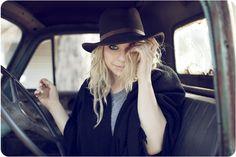 Mystery woman wearing a hat