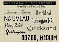Image result for Retro Fonts