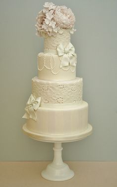 Whimsical wedding cake by Cotton and Crumbs, via Flickr