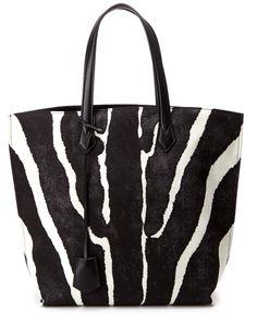 """FENDI """"All In"""" Zebra Nylon Tote is on Rue. Shop it now."""