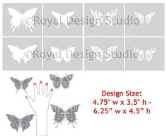 Stencils | Papillon Butterfly Stencil Set | Royal Design Studio