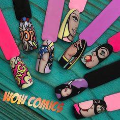 47 Stylish Nail Art Designs To Inspire Pop Art Nails, Nail Pops, Fun Nails, Pretty Nails, Sexy Nails, Stiletto Nails, Nail Swag, Nail Art Hacks, Nail Art Diy