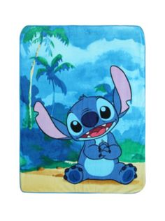 Disney Lilo & Stitch Beach Super Plush Throw SKU : 10212468  $19.60 www.hottopic.com