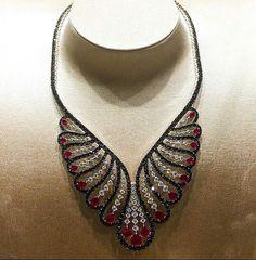 #damiani #new #necklace #diamonds #black #red #ruby #vanita #basel #2016 #fabulous #amazing #redcarpet