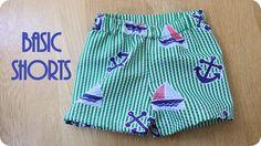 basic shorts tutorial for baby