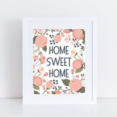 Free Printable Home Sweet Home Print from Paper Crave #wallart