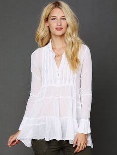 Free People FP One Tuxedo Tunic, $108.00