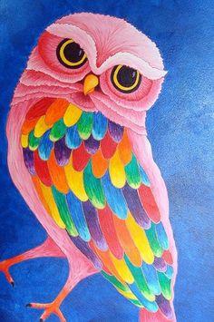 Beautiful Owl of Rainbow.  ❤