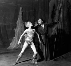Margaret Leighton as Ariel and Ralph Richardson as Prospero - 1952