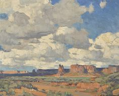 Edgar Payne (1883-1947) Canyon De Chelly 15 3/4 x 19 1/2in overall: 22 x 25 1/2in