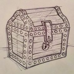 treasure chest lock coloring pages - photo#21