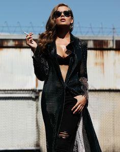 Solveig models Dior coat