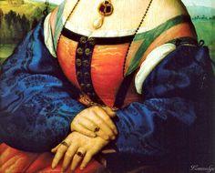 Raphael – Portrait of Maddalena Strozzi Doni [c.1506]