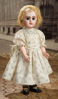 """""""Fascination"""" - Sunday, January 8, 2017: 193 French Bisque Bebe Jumeau with Rare Sleep Eyes and Original Costume"""