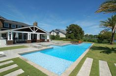 Rectangle Pool With Beach Entry - Yahoo Image Search Results Inground Pool Designs, Swimming Pool Designs, Pool Decks, Swimming Pools, Beach Entry Pool, Concrete Deck, Rectangle Pool, Pool Images, Backyard Buildings
