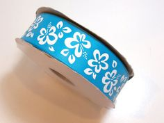 Blue Ribbon, Offray Hibiscus Satin Ribbon 1 1/2 inches wide x 10 yds, Turquoise #Offray