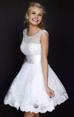 Wedding Dress - Ava Lace Short Wedding Dress