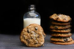 Chocolate Chip Cookies with allspice, currants, and fleur de sel.