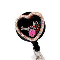SPECIAL NOTICE:We now seal all of our charm locket badge holders by default unless otherwise specified by our customers. If you would like your badge reel to s