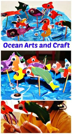 Fun ocean art and craft for the summer. You will need plates and toothpicks only! #summercrafts.