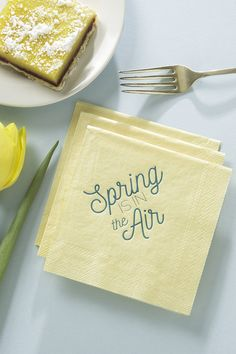 These beautiful luxe, personalized cocktail napkins are just perfect for your spring or summer party.