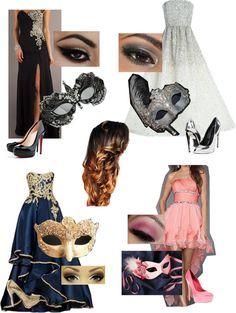 """masquerade ball"" by cristencarol ❤ liked on Polyvore"