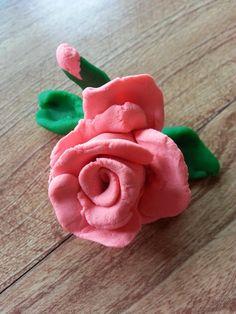 A playdough rose with a tiny bud!!!