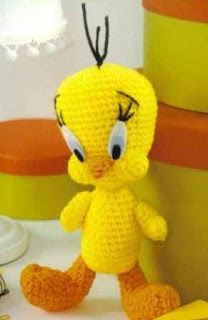 Tweety Bird Amigurumi - FREE Crochet Pattern / Tutorial  All are writen in spanish