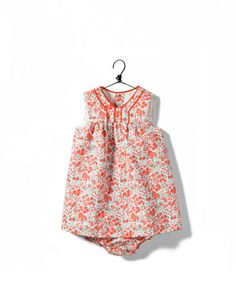 Zara mini piqué floral dress