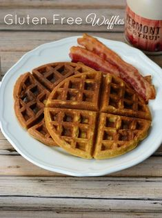 Easy Gluten Free Waffles from Growing Up Gabel are made with almond flour for a delicious #glutenfree #breakfast! #recipe
