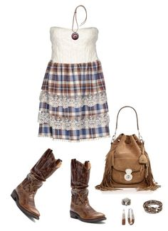 """""""Cowgirl boho 513"""" by adgubbe ❤ liked on Polyvore featuring Atelier Fixdesign, Double-H Boots, Ralph Lauren Collection, Marni and NOVICA"""