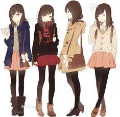 4 différents types mentaux mi-saison (plus ou moins chauds) pour sortir dans le froid...