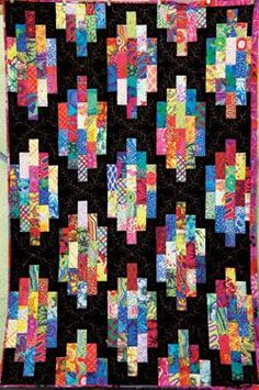 kaffe fassett quilt kits | Kaffe Fassett Strip Stacks Quilt Kit 51 x 70