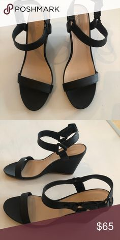 04e73f7a6a8f48 Lacoste Black Wedge Sandals Lacoste Black Karoly Wedge Sandle. 3.75
